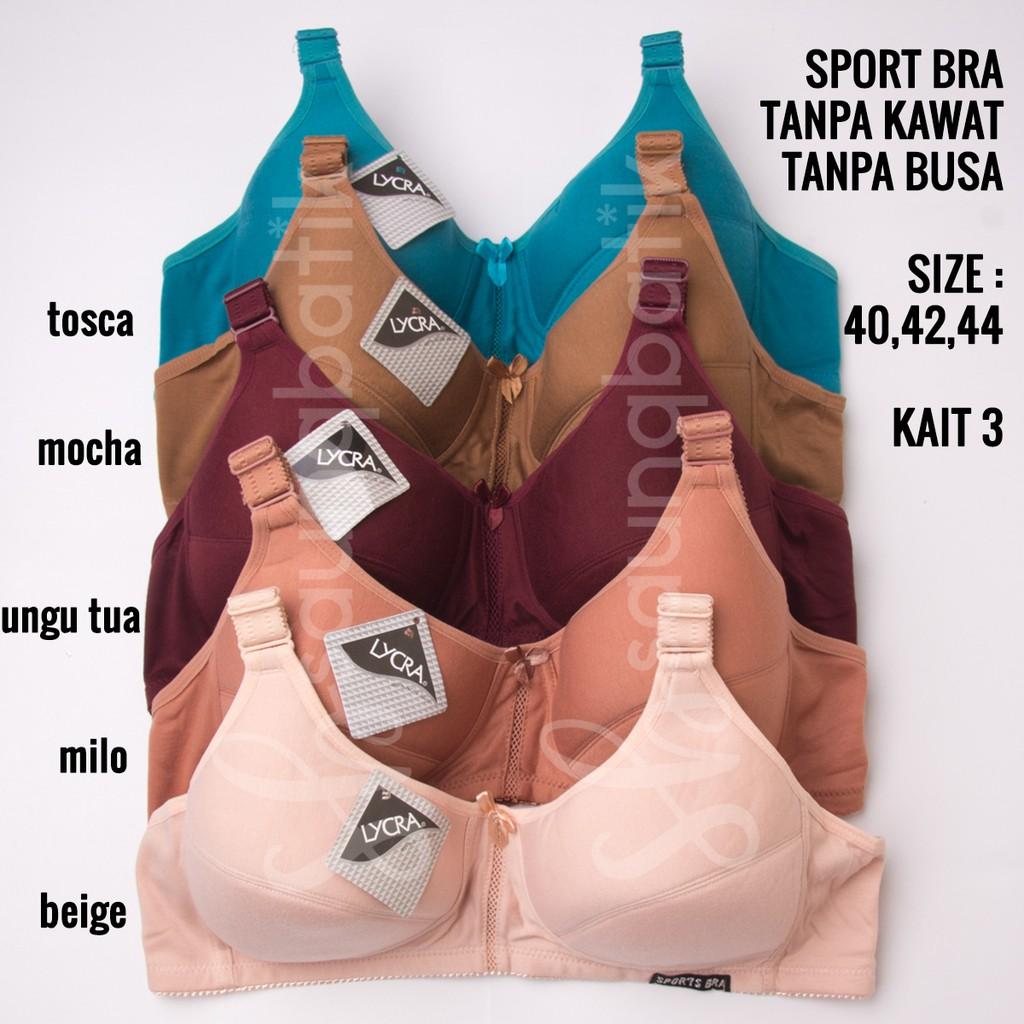 fdbf3db543 Pakaian Dalam Sport Bra Wanita Anti shock Punggung Silang dengan Busa untuk  Olahraga Lari Gym