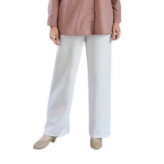 Celana Scuba Wanita Panjang, Kulot Scuba Panjang Wanita, Celana Kulot Bahan scuab Putih, Scuba Pants
