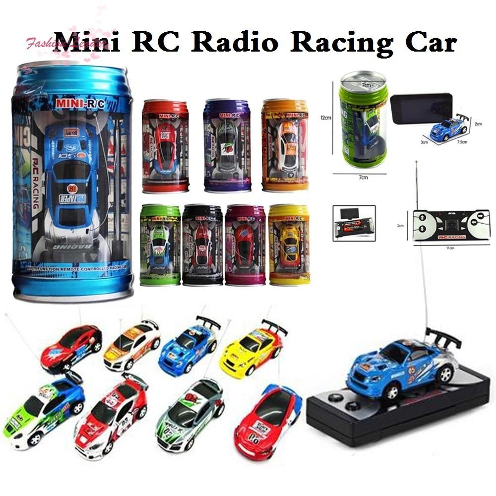 Kinderfahrzeuge Coke Can Mini Speed RC Radio Remote Control Micro Racing Car Toy Gift FL