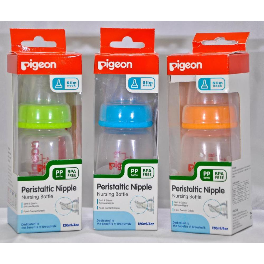 Pigeon Botol Susu 120ml Bottle 120 Ml Shopee Indonesia Baby Karakter Peristaltic Nipple 50ml
