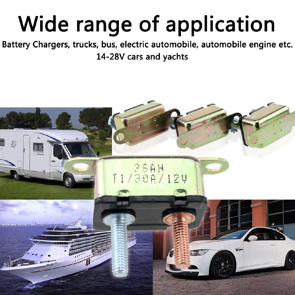 40Amp Auto Reset Circuit Breaker Fuse Dual Battery Car Caravan Boat