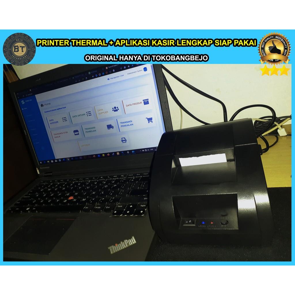 PAKET PRINTER THERMAL DAN APLIKASI KASIR BERBASIS WEB SIAP PAKAI SEKALI BELI UNTUK BANYAK PC