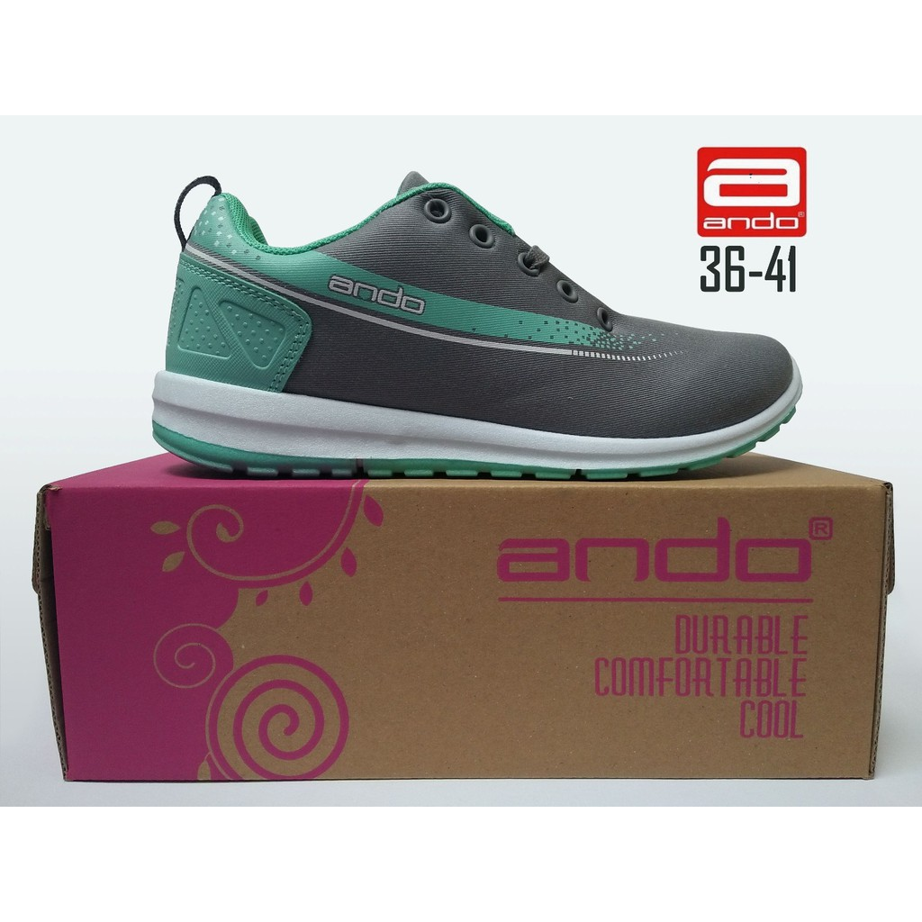 SEPATU CASUAL WANITA ANDO LINDSEY ABU SEPATU RUNNING, SEPATU OLAHRAGA | Shopee Indonesia