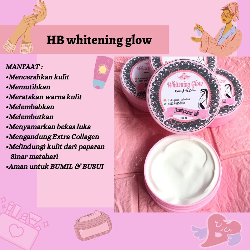 Hb whitening glow,by Queen.lotion