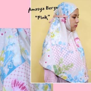 Amasya Hijab Jilbab Instan Bergo Maryam Tali Motif Ria Miranda Prada Crepe Shopee Indonesia