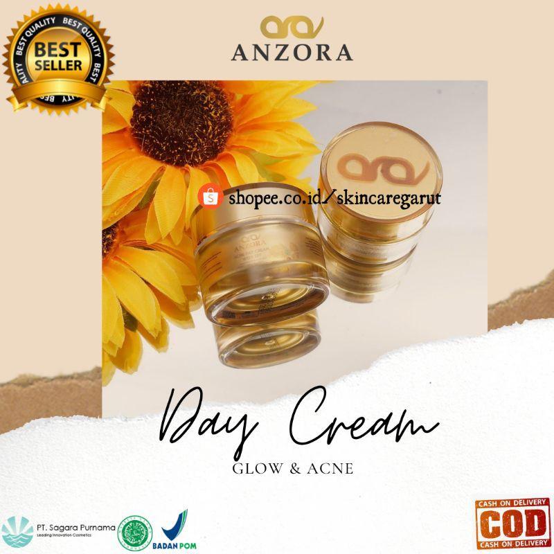 ECER DAY CREAM ANZORA GLOW ACNE / CREAM SIANG / SUNSCREEN SPF 30