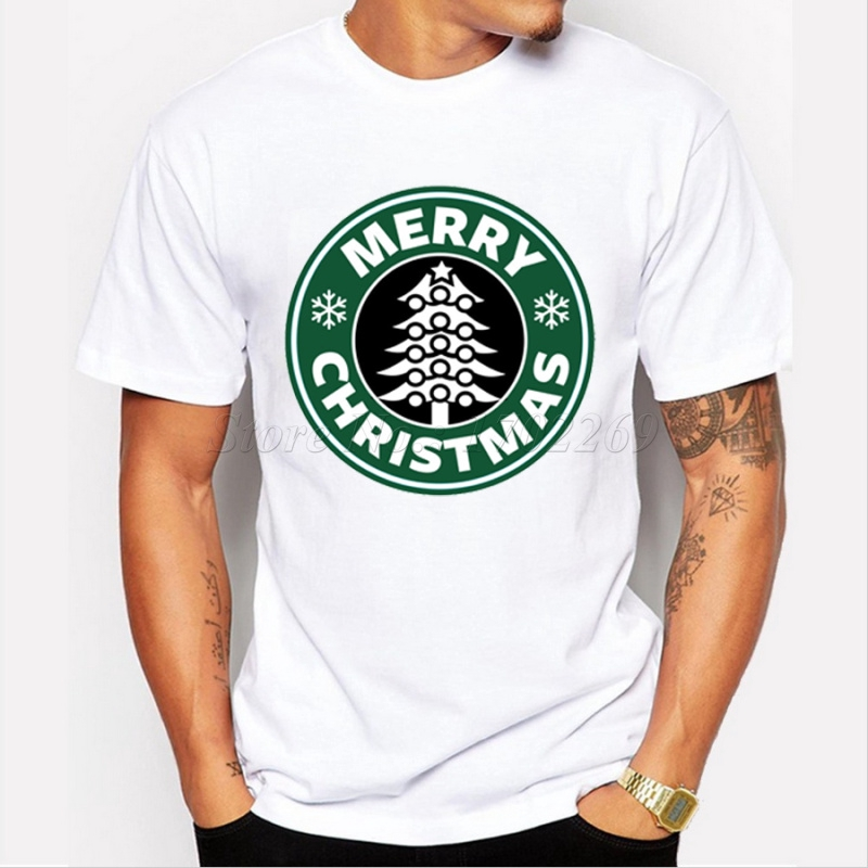 Asian Size Venti Christmas Fashion Design Men T Shirt Short Sleeve Casual Tee Merry Christmas Letter Printed Hipster Tops Shopee Indonesia