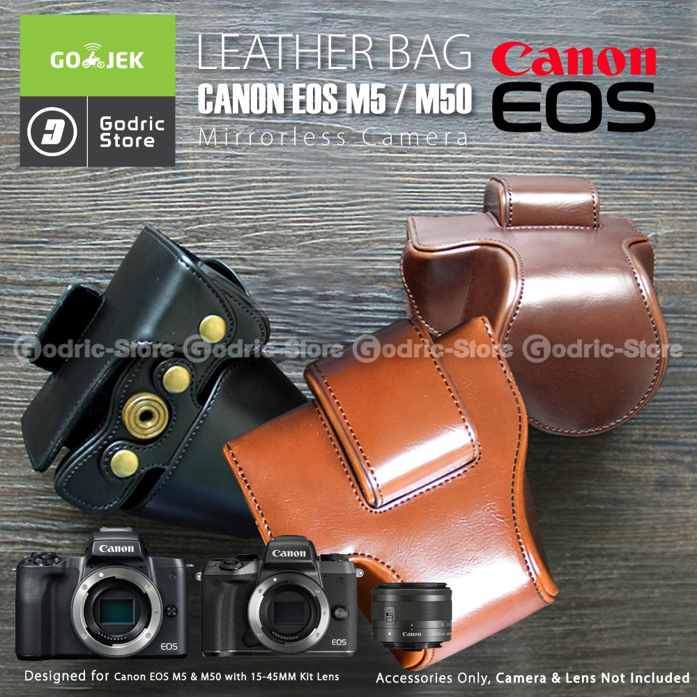 Canon Eos M10 M100 Leather Bag Case Tas Kulit Kamera Mirrorless Kit 15 45mm Paling  Se Bukalapak 45 Mm 18 55 Shopee Indonesia