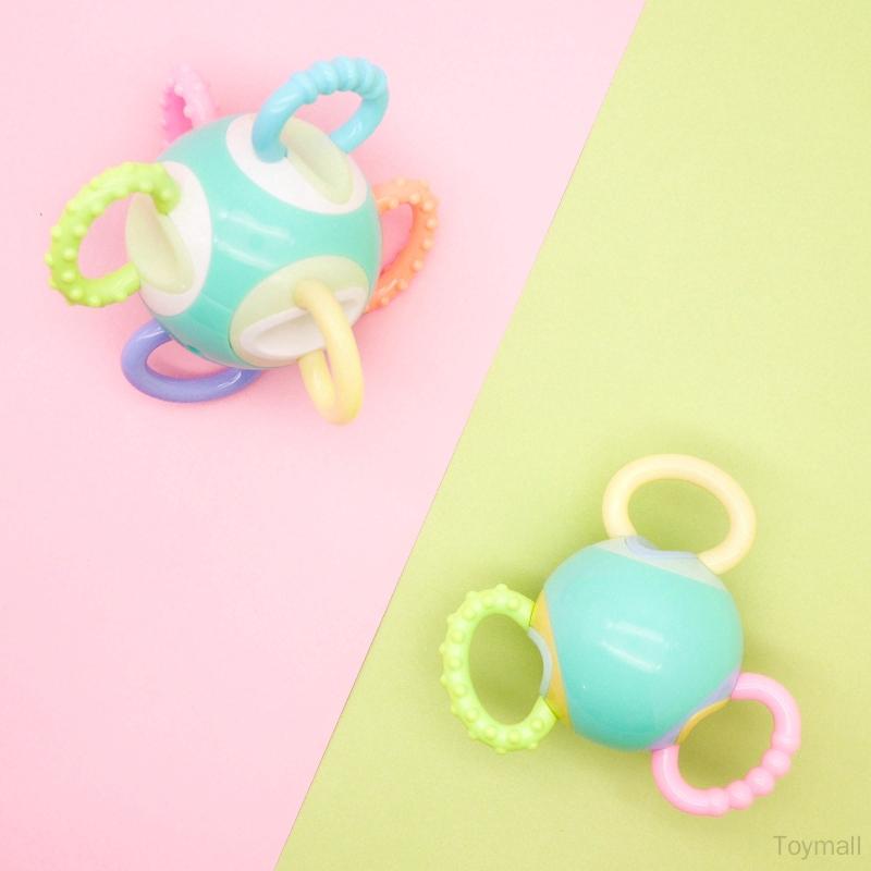 Teething Toy Baby Gift Ring Handbell Rattle Newborn Sensory Teether C