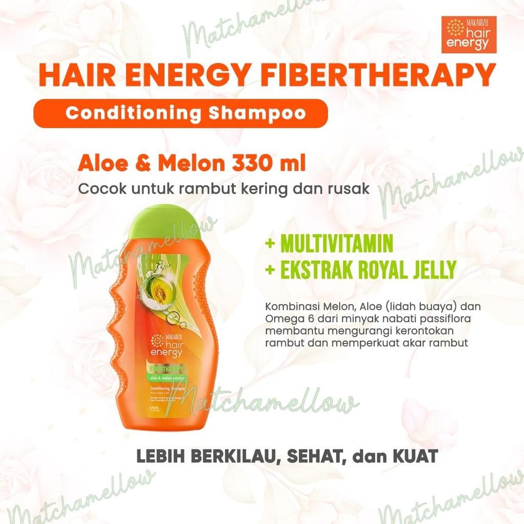 ❄️MATCHA❄️MAKARIZO HAIR ENERGY FIBERTHERAPY CONDI SHAMPOO 170 320 ML SAMPO PEMBERSIH RAMBUT 2IN1-ALOENMELON