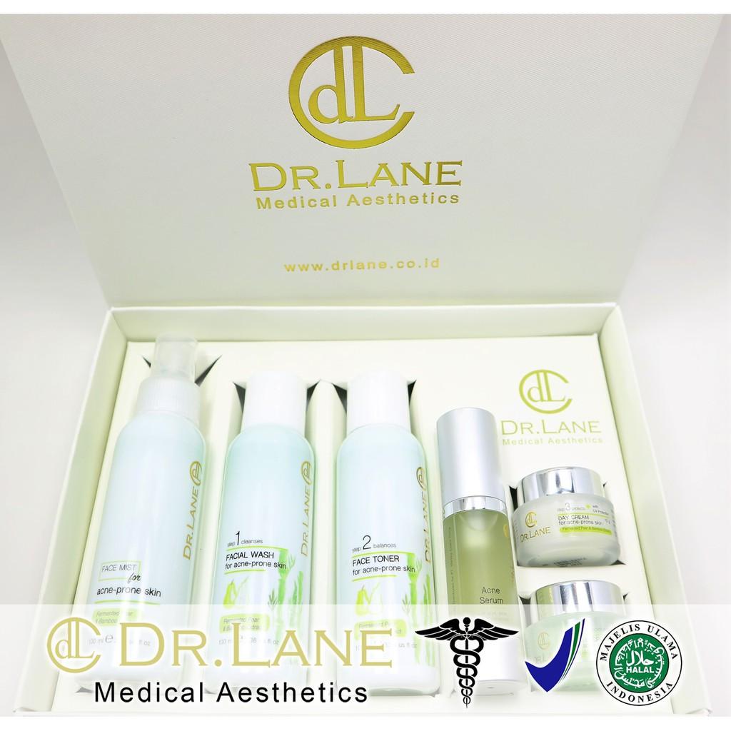 Dr  Lane Advanced Paket Acne Series / Skincare Kulit Berjerawat dan  Berminyak / BPOM & MUI