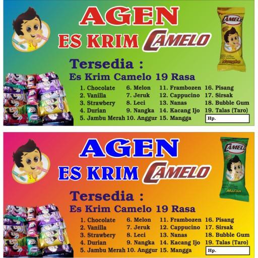 Box Camelo Dengan Isi Bubuk Es Krim 1 Pack Isi 240pcs Shopee Indonesia