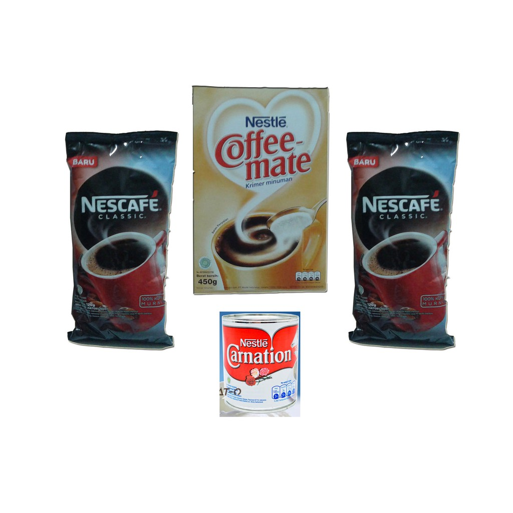 Minuman Nestle Daftar Harga November 2018 Nestum Bubur Sereal Multigrain 3in1 Polybag 4 X 32g Susu Pisang Bundling Paket Pas Nescafe Classic 2pcs Coffe Mate Carnation 370 Gr
