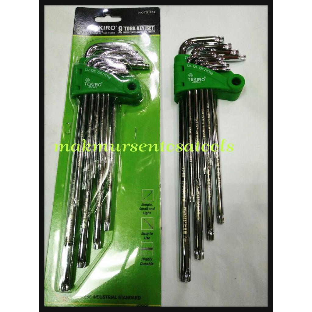 Kunci L Set Ballpoint Pendek Hex Key Short Ser 9pcs Tekiro Bintang Panjang Xtra Long 9 Pcs Shopee Indonesia
