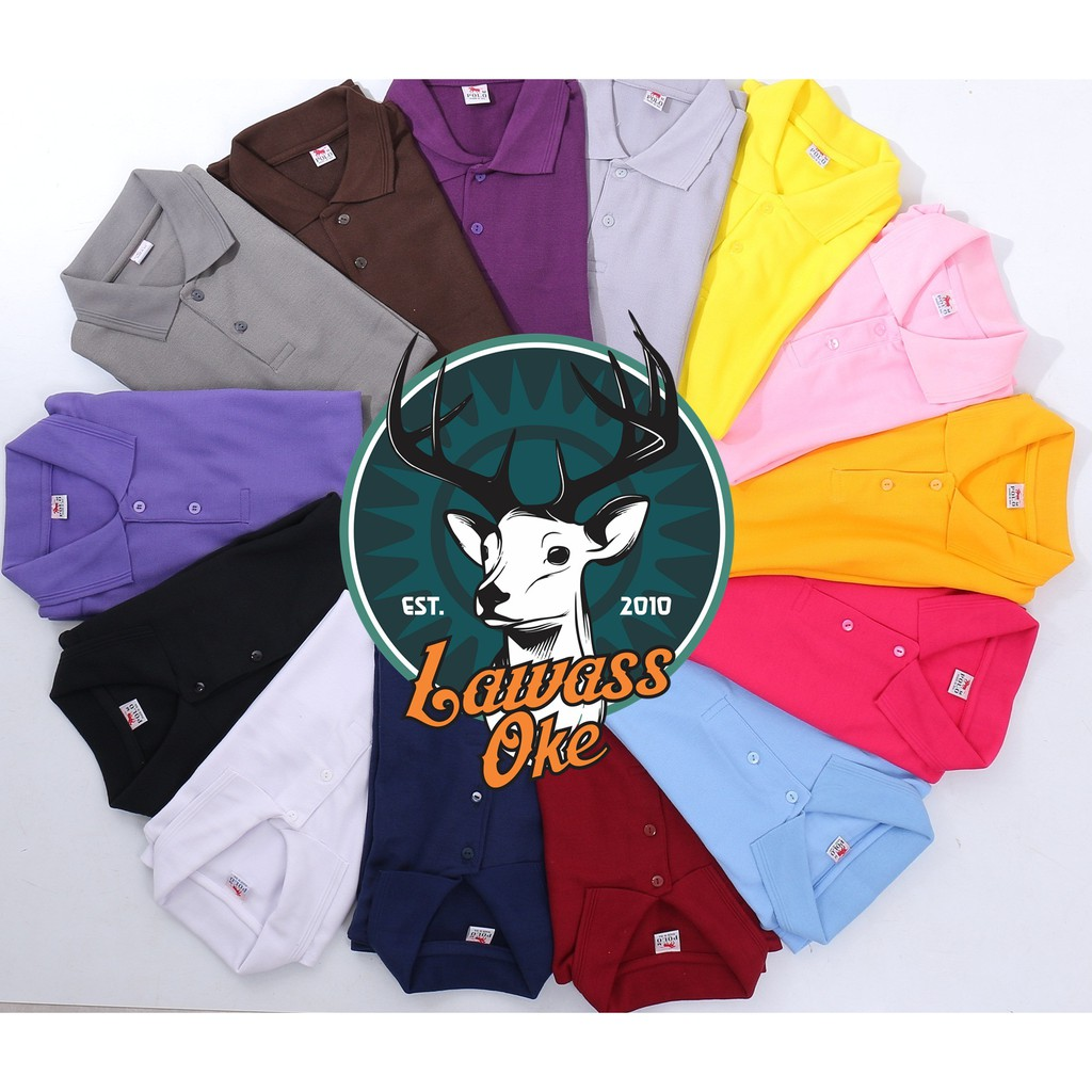Baju Poloshirt Murah Bahan Tebal Tidak Menerawang Kaos Polo Shopee Shirt Kerah Lacoste Pique Indonesia