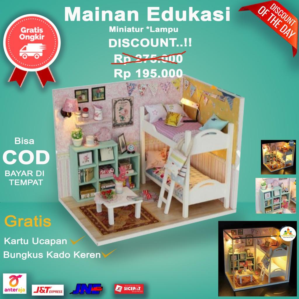 Miniatur Rumah Boneka Mainan Edukasi DIY Kado Anak Unik 3 ...