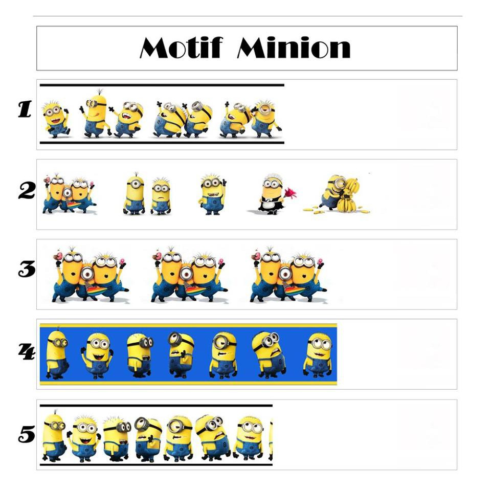 Wallborder Wallpaper Dinding Tembok Roll Minion 12mx10cm