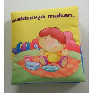 Buku Bantal Kain Softbook Bayi Waktunya Makan
