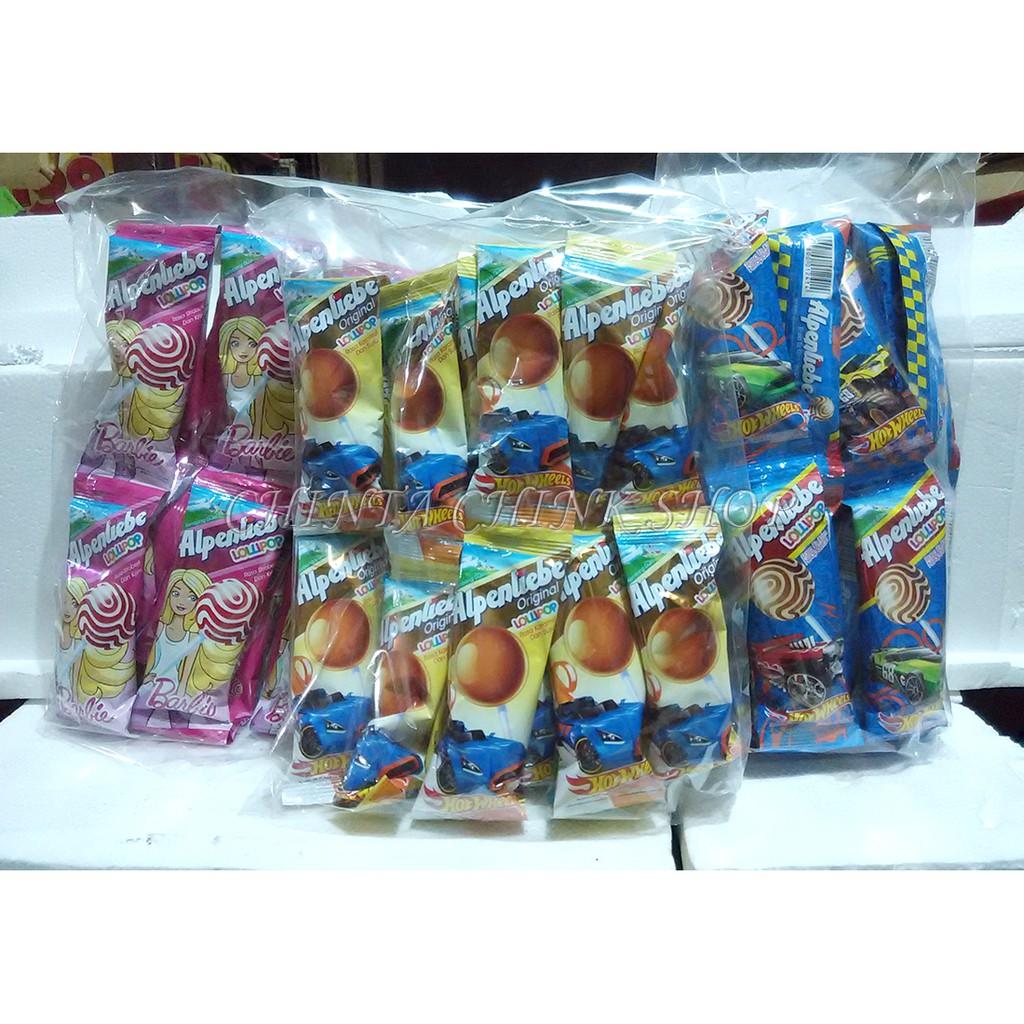 Alpenliebe Lollipop Hanger Berhadiah Gelas Plastik Isi 20pcs