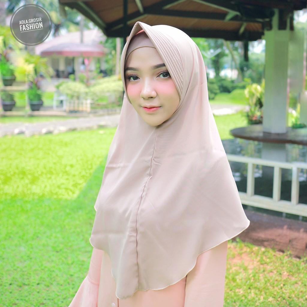 Jilbab Serut Rempel Pet Antem Hijab Bergo Khimar Segiempat Shabby Chic Sj0004 Jersey Likra Shopee Indonesia
