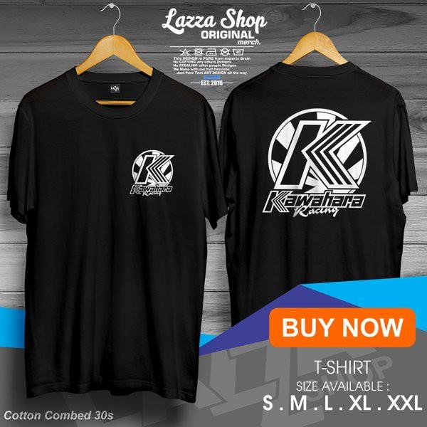 Kaos Baju Tshirt Racing Kawahara Logo Depan Belakang Keren Murah