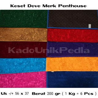 KESET CENDOL DOFF PENTHOUSE ALAS BINTIK MICROFIBER UKURAN -/+ 37 X 56 CM