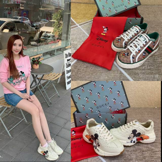 Ready Gucci Mickey Mouse Sneakers Shopee Indonesia