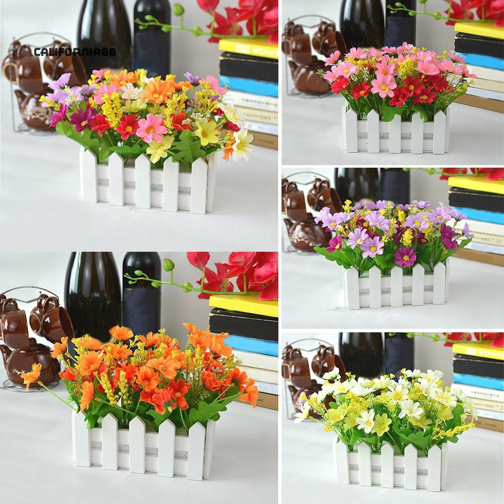 Cali 1 Buket Bunga Buatan Bahan Kayu Untuk Dekorasi Panggung Pesta Taman