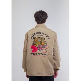 Erigo Coach Jacket Feels Fear Khaki