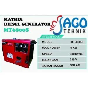 Genset Solar 5000 Watt Genset Silent Keluar 5000 Watt
