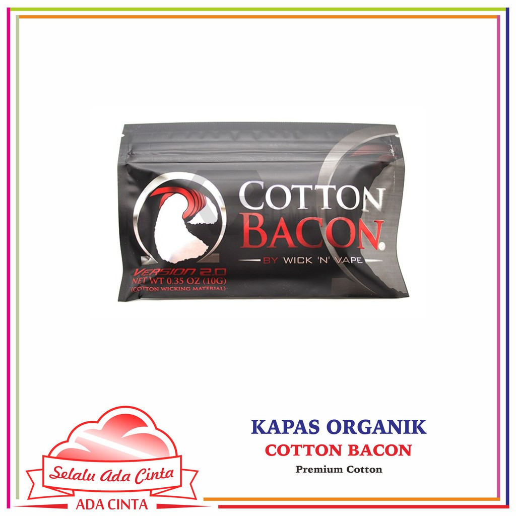 Cotton Bacon V2 By Wick N Vape Kapas Vapor Organik Flava Not Atomix Or Shopee Indonesia