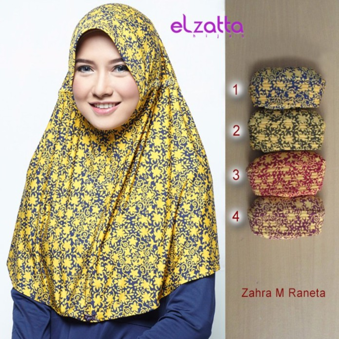 Elzatta Hijab Bergo Zahra M Raneta Kerudung Jilbab Instan Asli Terbaru Shopee Indonesia