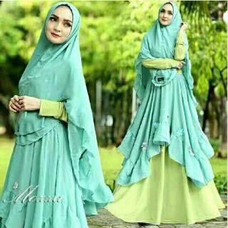 Tunik Fashion Wanita [Syari Maxmara Emercy Choco TL] gamis wanita. Source · suka