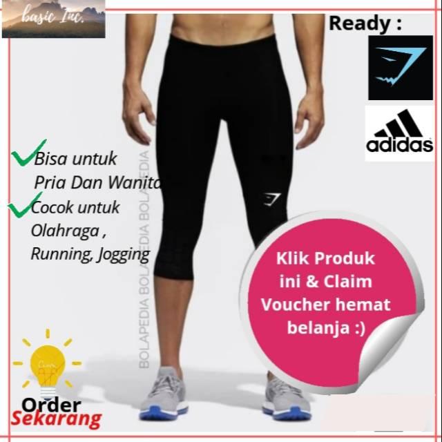Celana Legging Manset Baselayer Training Olahraga Renang Pendek 3 4 Hitam Pria Wanita Dewasa Murah Shopee Indonesia