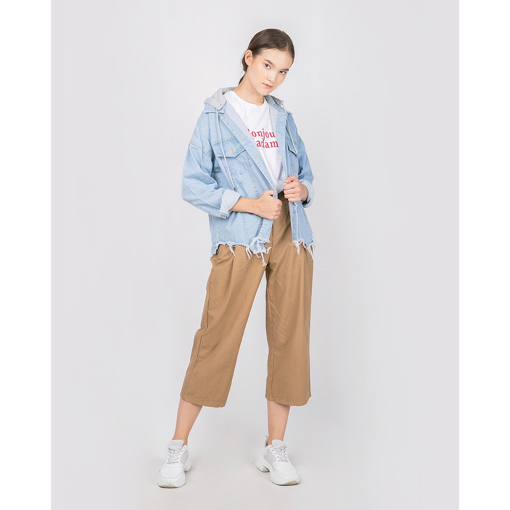 Moisa Outer Denim 165016 Shopee Indonesia This Is April Lona Pants Cream 265701