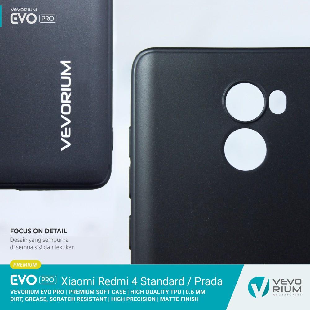 uk availability cd67c 19712 Xiaomi Redmi 4 Standard Prada VEVORIUM EVO PRO Premium Soft Case Back
