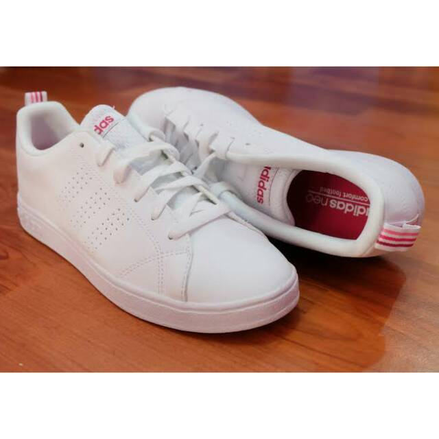 Adidas Neo Advantage Clean White List Red Original BNWB
