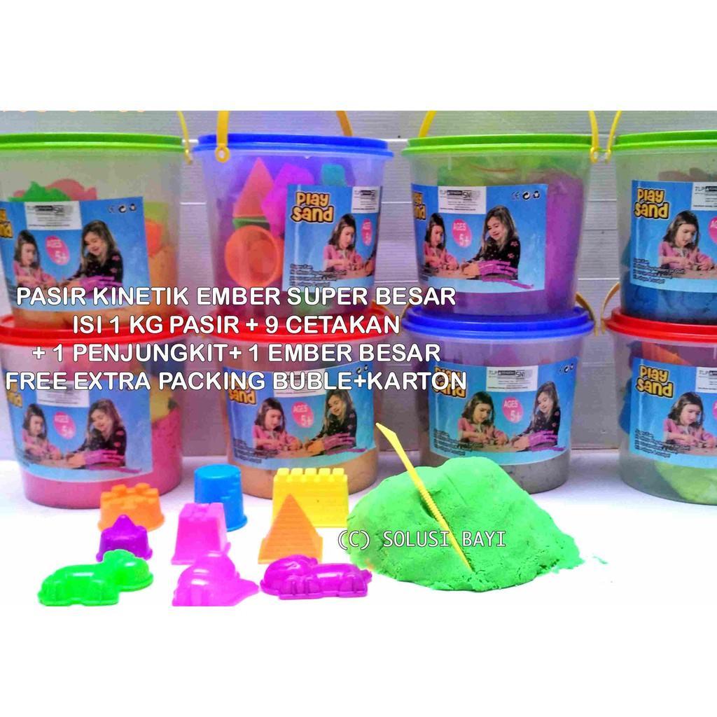 Pasir Kinetik Playsand SUPER JUMBO 2KG Kinetic Sand Model Sand | Shopee Indonesia