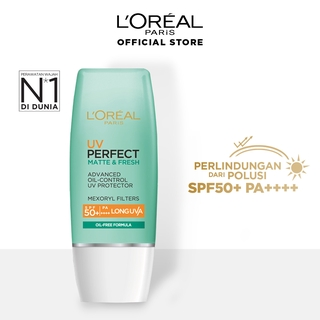 L'Oreal Paris UV Perfect Matte & Fresh Sunscreen – Oil-Free SPF 50 / PA ++++ Skin Care - 30 ml