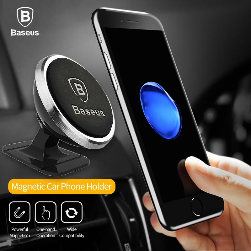 Baseus Stand Holder Handphone Universal Magnetik 360 Derajat untuk Mobil | Shopee Indonesia