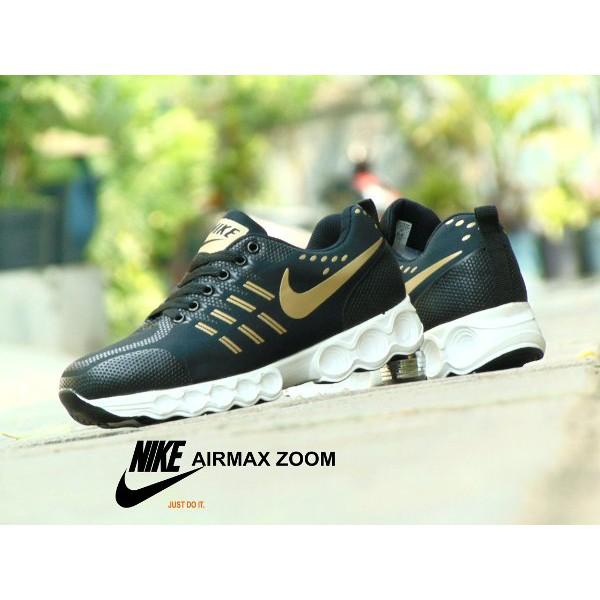 Sepatu Nike Airmax Zoom Sprint GRADE ORI Hitam Gold Sport Casual Pria  ae9fd6e7f6
