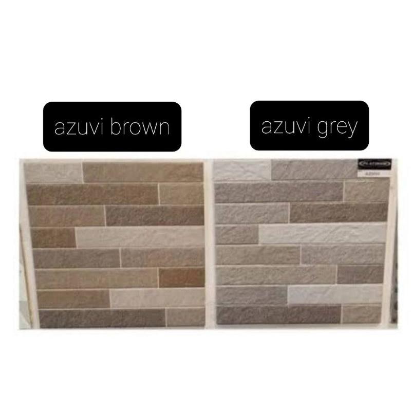 keramik 40x40 dinding bata matt platinum azuvi brown grey