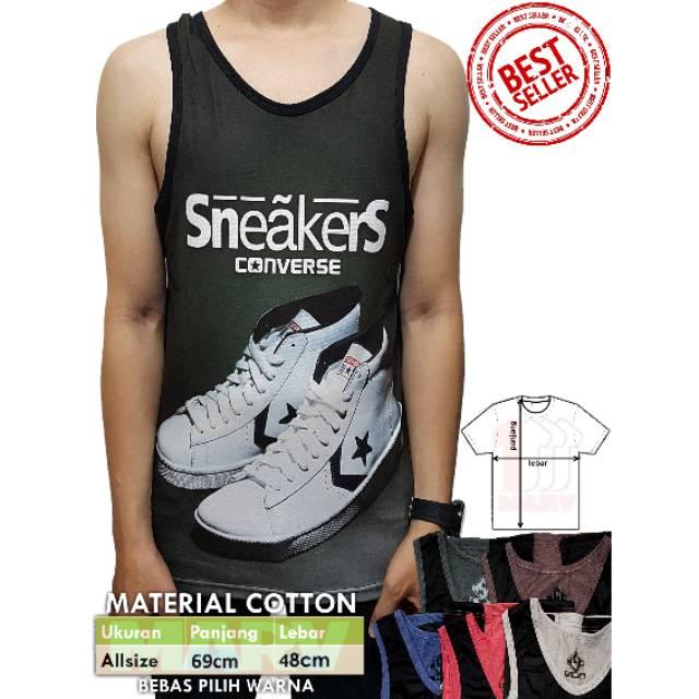 83e2c25dd9af Kaos Cowok Spandek Tshirt Distro Baju Pria Pakaian Grosir Harga Termurah  Converse New Arrival