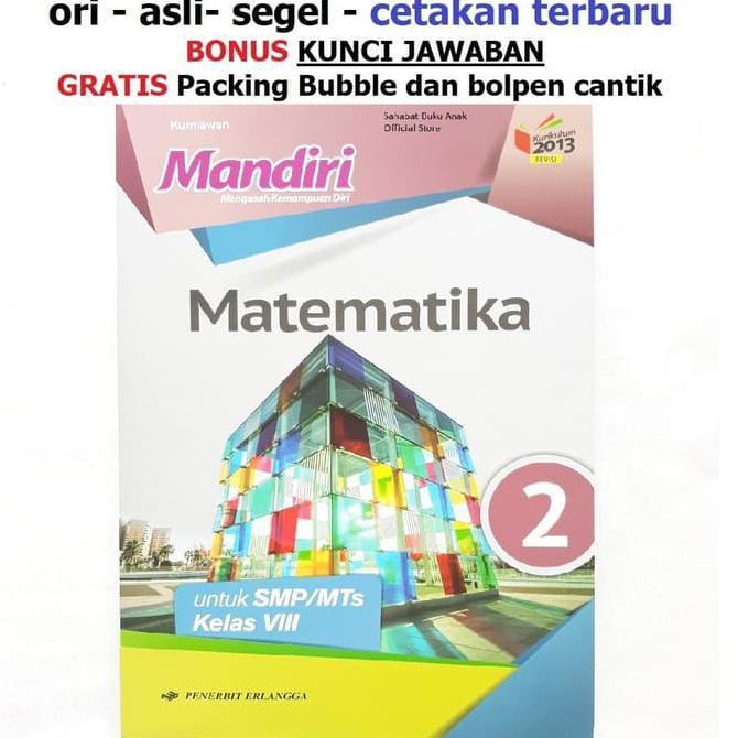 Buku Mandiri Matematika Smp Kelas 8 K13 Soal Jawaban Kurtilas Shopee Indonesia