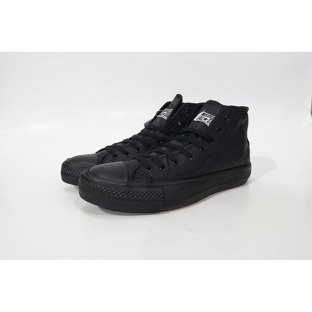 Sepatu Converse Allstar Classic High Black White Import Bahan Kulit ... 6794faf6c9