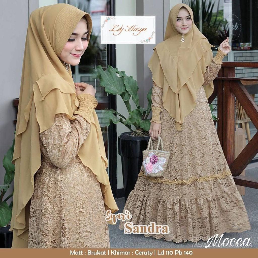 Model baju gamis lebaran 12 / Baju renda gamis muslimah / Gamis remaja  modern model terbaru 12