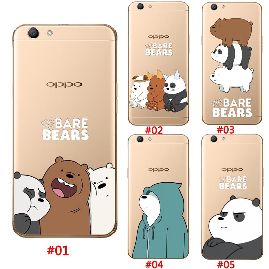 Casing Soft Case Silikon TPU Motif We Bare Bears untuk oppo a59 f1s r9s R9 F1 Plus