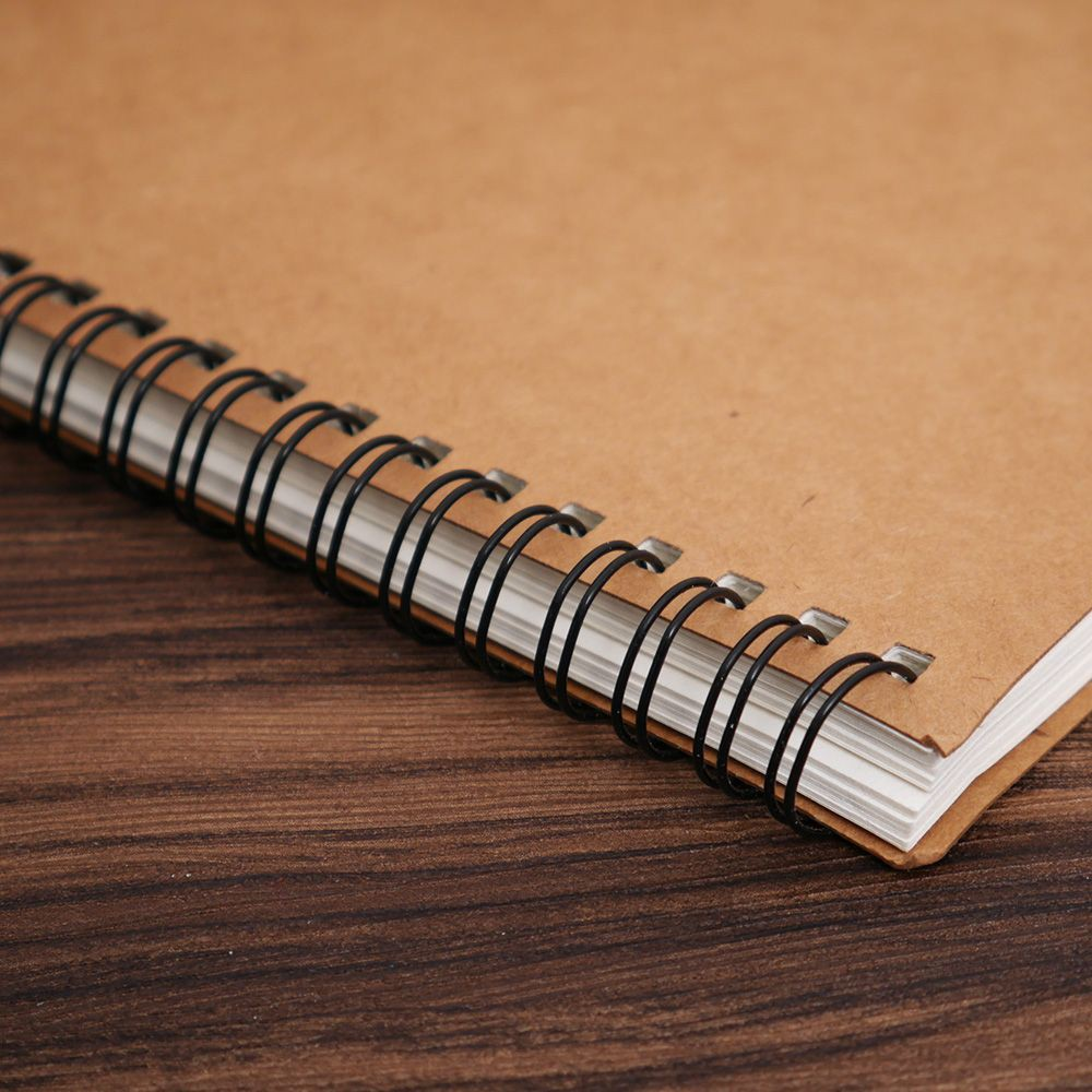 Buku Notebook Diary Bahan Kertas Kraft Kosong Warna Coklat Untuk Perlengkapan Sekolah Kantor Shopee Indonesia