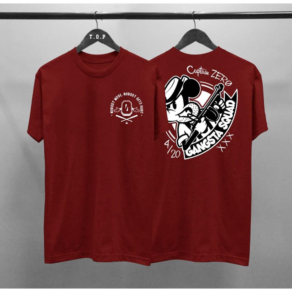 Pbm Kaos Distro Pria Captain Zero Cotton Combed 30s Atasan T Shirt Sablon Depan Belakang Shopee Indonesia