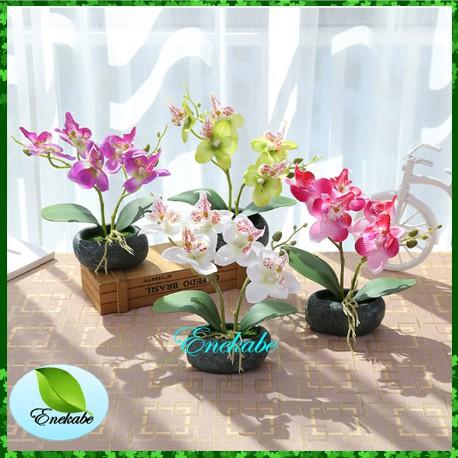 bunga anggrek kupu-kupu imitasi multi warna untuk dekorasi